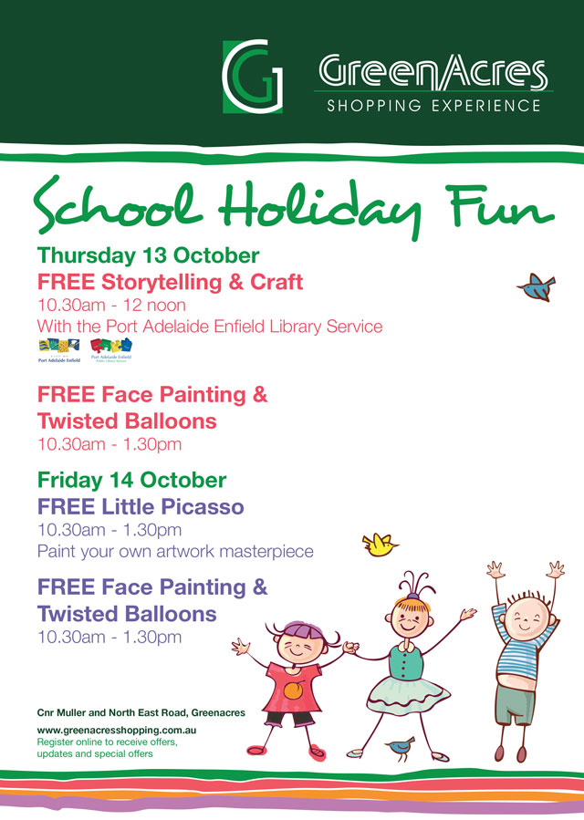 Greenacres Shopping Centre - October School Holiday Activities